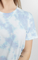 Camiseta Feminina de Malha com Gola Careca Tie Dye 1 cor