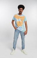 Camiseta Masculina de Malha com Gola Careca Tye Dye 3 cores