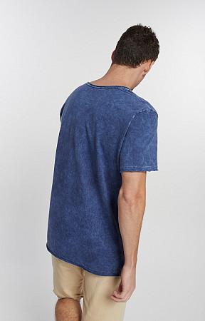 Camiseta Masculina de Malha Corte a Fio Sky