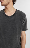 Camiseta Masculina de Malha com Gola Careca Marmorizado