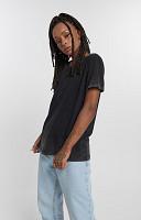 Camiseta Feminina de Malha com Gola Careca Marmorizada do Avesso