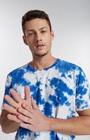 Camiseta Masculina de Malha com Gola Careca Tye Dye 1 cor