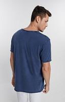 Camiseta Masculina de Malha Corte a Fio Marmorizado