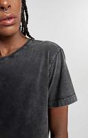 Camiseta Feminina de Malha com Gola Careca Marmorizada
